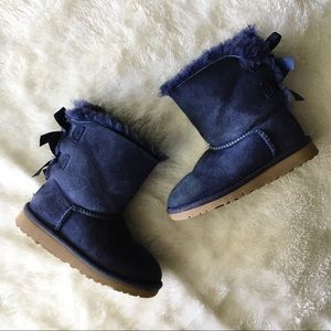 UGG Australia Navy Blue Bailey Back Bow Boots